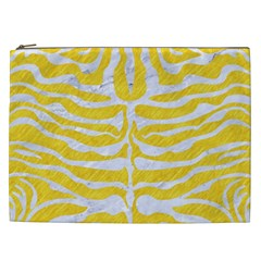 Skin2 White Marble & Yellow Colored Pencil Cosmetic Bag (xxl)  by trendistuff