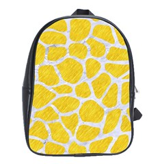 Skin1 White Marble & Yellow Colored Pencil (r) School Bag (xl) by trendistuff