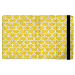 Scales3 White Marble & Yellow Colored Pencil Apple Ipad 3/4 Flip Case by trendistuff