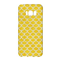 Scales1 White Marble & Yellow Colored Pencil Samsung Galaxy S8 Hardshell Case  by trendistuff