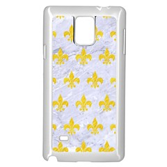 Royal1 White Marble & Yellow Colored Pencil Samsung Galaxy Note 4 Case (white) by trendistuff