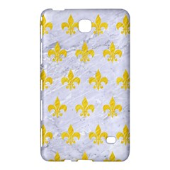 Royal1 White Marble & Yellow Colored Pencil Samsung Galaxy Tab 4 (8 ) Hardshell Case
