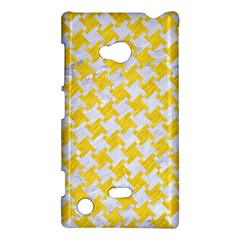Houndstooth2 White Marble & Yellow Colored Pencil Nokia Lumia 720 by trendistuff