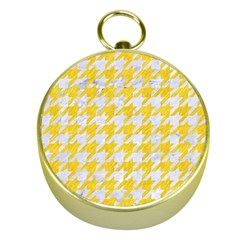 Houndstooth1 White Marble & Yellow Colored Pencil Gold Compasses by trendistuff