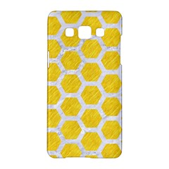 Hexagon2 White Marble & Yellow Colored Pencil Samsung Galaxy A5 Hardshell Case  by trendistuff