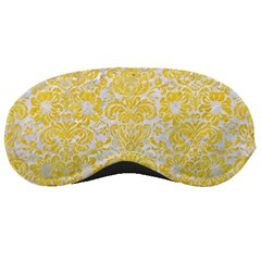 Damask2 White Marble & Yellow Colored Pencil (r) Sleeping Masks by trendistuff