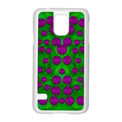 The Pixies Dance On Green In Peace Samsung Galaxy S5 Case (white) by pepitasart