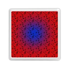 Red Music Blue Moon Memory Card Reader (square)  by snowwhitegirl