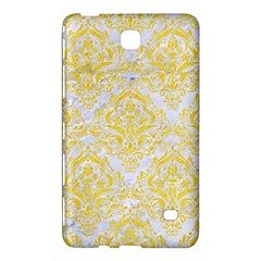 Damask1 White Marble & Yellow Colored Pencil (r) Samsung Galaxy Tab 4 (7 ) Hardshell Case  by trendistuff