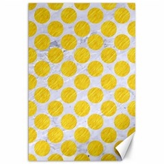 Circles2 White Marble & Yellow Colored Pencil (r) Canvas 20  X 30   by trendistuff