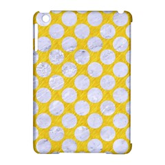Circles2 White Marble & Yellow Colored Pencil Apple Ipad Mini Hardshell Case (compatible With Smart Cover) by trendistuff