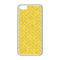 Brick2 White Marble & Yellow Colored Pencil Apple Iphone 5c Seamless Case (white) by trendistuff