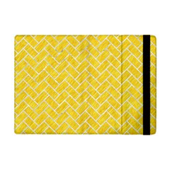 Brick2 White Marble & Yellow Colored Pencil Ipad Mini 2 Flip Cases by trendistuff