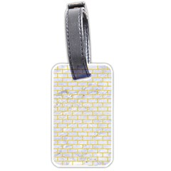 Brick1 White Marble & Yellow Colored Pencil (r) Luggage Tags (two Sides) by trendistuff