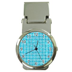 Woven1 White Marble & Turquoise Marble Money Clip Watches by trendistuff