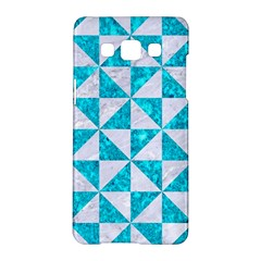 Triangle1 White Marble & Turquoise Marble Samsung Galaxy A5 Hardshell Case  by trendistuff