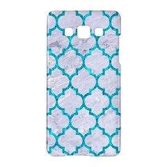 Tile1 White Marble & Turquoise Marble (r) Samsung Galaxy A5 Hardshell Case  by trendistuff