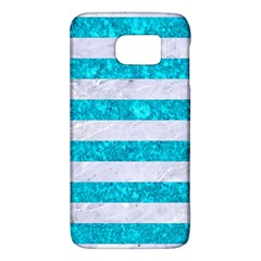 Stripes2white Marble & Turquoise Marble Galaxy S6
