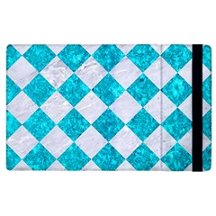 Square2 White Marble & Turquoise Marble Apple Ipad 2 Flip Case by trendistuff