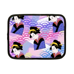 Japanese Abstract Blue Netbook Case (small)  by snowwhitegirl