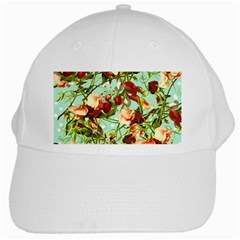 Fruit Blossom White Cap by snowwhitegirl