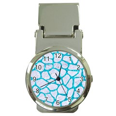 Skin1 White Marble & Turquoise Marble Money Clip Watches by trendistuff
