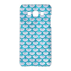 Scales3 White Marble & Turquoise Marble (r) Samsung Galaxy A5 Hardshell Case  by trendistuff