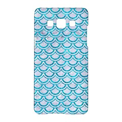 Scales2 White Marble & Turquoise Marble (r) Samsung Galaxy A5 Hardshell Case  by trendistuff