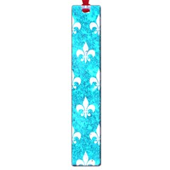 Royal1 White Marble & Turquoise Marble (r) Large Book Marks by trendistuff
