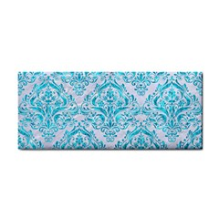 Damask1 White Marble & Turquoise Marble (r) Cosmetic Storage Cases by trendistuff