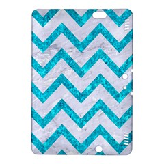 Chevron9 White Marble & Turquoise Marble (r) Kindle Fire Hdx 8 9  Hardshell Case by trendistuff