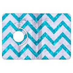 Chevron9 White Marble & Turquoise Marble (r) Kindle Fire Hdx Flip 360 Case by trendistuff