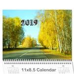 calendar 2019 - Wall Calendar 11  x 8.5  (18 Months)