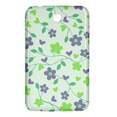 Green Vintage Flowers Samsung Galaxy Tab 3 (7 ) P3200 Hardshell Case  by vintage2030