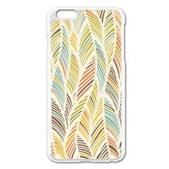 Decorative  Seamless Pattern Apple Iphone 6 Plus/6s Plus Enamel White Case by TastefulDesigns