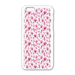 Watercolor Spring Flowers Pattern Apple Iphone 6/6s White Enamel Case by TastefulDesigns