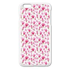 Watercolor Spring Flowers Pattern Apple Iphone 6 Plus/6s Plus Enamel White Case by TastefulDesigns