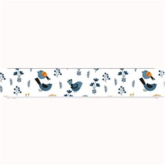 Spring Flowers And Birds Pattern Small Bar Mats by TastefulDesigns