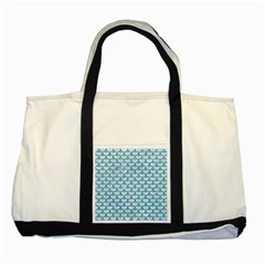 Scales3 White Marble & Turquoise Glitter (r) Two Tone Tote Bag by trendistuff