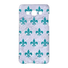 Royal1 White Marble & Turquoise Glitter Samsung Galaxy A5 Hardshell Case  by trendistuff