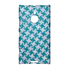 Houndstooth2 White Marble & Turquoise Glitter Nokia Lumia 1520 by trendistuff