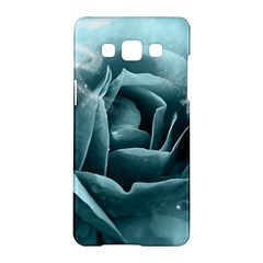 Beautiful Blue Roses With Water Drops Samsung Galaxy A5 Hardshell Case  by FantasyWorld7