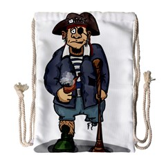 Cute Pirate Drawstring Bag (large) by ImagineWorld