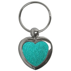 Aqua Glitter Key Chains (heart)  by snowwhitegirl
