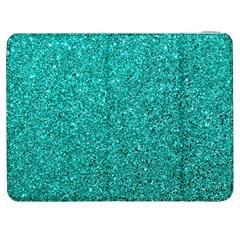 Aqua Glitter Samsung Galaxy Tab 7  P1000 Flip Case by snowwhitegirl