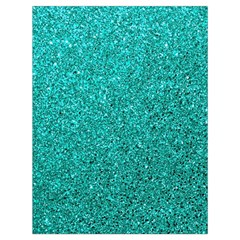 Aqua Glitter Drawstring Bag (large) by snowwhitegirl