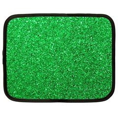 Green Glitter Netbook Case (xxl)  by snowwhitegirl