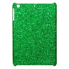 Green Glitter Apple Ipad Mini Hardshell Case by snowwhitegirl