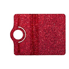 Red  Glitter Kindle Fire Hd (2013) Flip 360 Case by snowwhitegirl