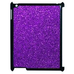 Purple  Glitter Apple Ipad 2 Case (black) by snowwhitegirl
